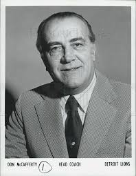 Don McCafferty Detroit Lions Football Head Coach 1973 Vintage ...