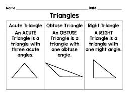 Triangle Types Chart Types Of Triangles Anchor Chart Worksheets Teaching