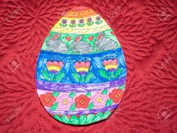 Easter Egg Designs For School Easter Egg Made Of Paper And Decorated At School
