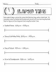 Printable Elapsed Time Worksheets Free | Activity Shelter