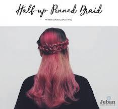 How To Half Up Pinned Braid Hair ผมเปยแบบไมตงใจ ถก