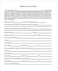 Health Record Release Form Template Sample Medical Records Photo Uk