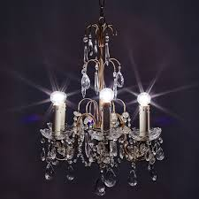 Bruges 3 Light Kitchen Pendant Bruges Vintage Crystal Chandelier