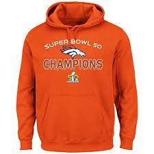 Champions Broncos Denver Orange Champs Sweatshirt Athletic Majestic 50 Beyond Super Victory Bowl