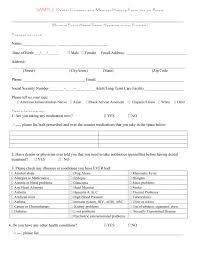 67 Medical History Forms Word Pdf Printable Templates
