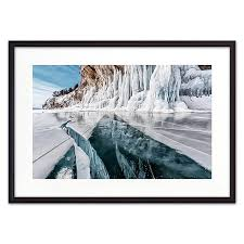 <b>Постер в рамке</b> Ледяное озеро 40 х 60 см <b>Дом</b> Корлеоне купить ...
