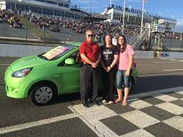 the winner of the shelor toyota growing the future munity partnership car giveaway of a 2016 mitsubishi mirage is melissa akers