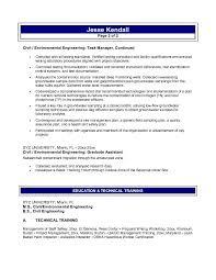 Environmental Engineering Resume Sample