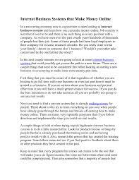 business environments essay narratives