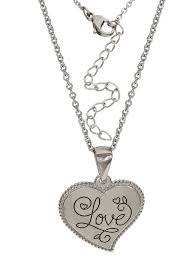 connections from hallmark stainless steel love heart pendant 18 com
