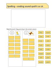 Phonics worksheets, lesson plan, flashcards: Phonics Ending Spelling Ck Or K Worksheet