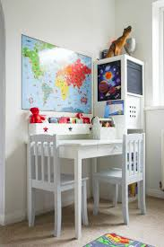 a blue white and grey children s playroom