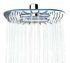 shower heads 2 function waterfall and water spray luxury large 8 inches wide head led uk