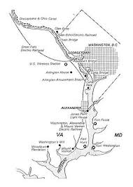 streetcars in washington d c diagram of 1915 electric railroad routes near the later routes of the george washington memorial parkway showing the washington and great falls electric