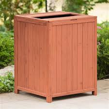 leisure season wooden patio trash