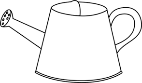 can clipart black and white. watering can clipart black and white clipartfest a
