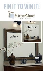 Diy Bathroom Mirror 17 Best Ideas About Frame Bathroom Mirrors On Pinterest Framed