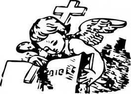 小さな天使と聖書クリップアート ベクター クリップ アート 無料