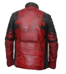 deadpool leather jacket motorcycle biker