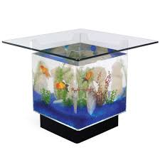 ... Outstanding Clear Square Contemporary Glass Coffee Table Aquarium  Designs To Decorating Living Room ...