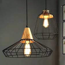 bronze wire industrial cage pendant light shade inches wide black metal pendant light shade