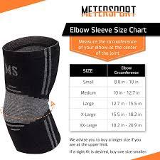 Elbow Sleeve Size Chart Metersport Elbow Sleeve Compression Sleeve Elbow Brace Elbow Support Women Men Golfers Tennis Elbow Brace Tendonitis Elbow Pain Treatment