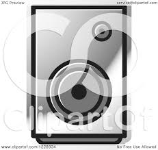 music speakers clipart. clipart of a silver music speaker icon - royalty free vector illustration by lal perera speakers p
