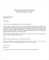 Letter Of Recommendation Tenant Tenant Letter Of Recommendation Sample Letter Of Recommendation