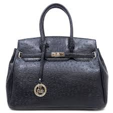 soap opera jewelry has kate s royally inspired black soft leather designer handbag as seen on tv