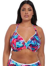 Paradise Palm Underwire Plunge Bikini Top