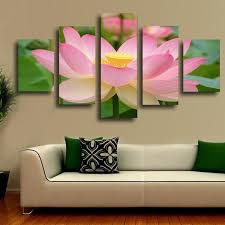 2017 paintings 5 panel lotus modern painting canvas wall art picture home decoration living room print on lotus panel wall art with 2017 paintings 5 panel lotus modern painting canvas wall art picture