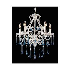westmore lighting once 5 light antique white crystal chandelier