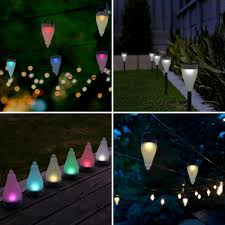 Colour Changing Solar Garden Lights Quace Color Changing Garden Lights 7 Colors And 3 Lighting Modes Solar Outdoor Decoration Lights Hang Stick Set Of 10