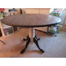 extremely creative international concepts dining table unfinished parawood 42 inch round dual drop leaf free