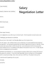 Salary Negotiation Email Sample Compatible Depict Offer Letter ...