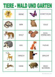 Die lernenden erhalten eine karte und mussen das wort umschreiben. Memory Spiel Tiere Im Wald Und Garten Deutsch Daf Arbeitsblatter
