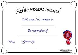 Printable Blank Awards Download Them Or Print
