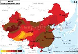 China Weather Chart China Temperature Map