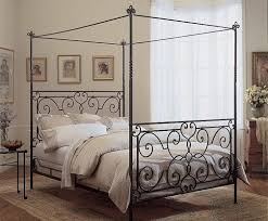 Creative of Metal Canopy Bed Frame with Full Size Canopy Bed Frame ...
