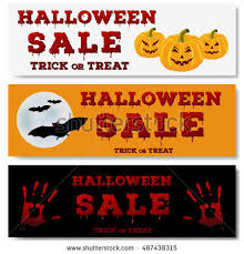 halloween sale flyer set halloween horizontal banners design flyer stock photo photo