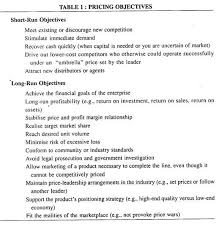 essay on pricing strategy top essays firms management pricing objectives