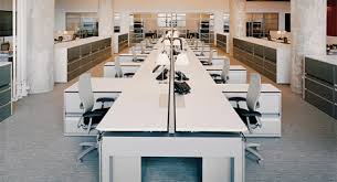 Open office cubicles Open Plan Image Pinterest Cubicles Vs Open Office Newwaveoffices