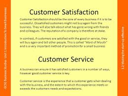 Customer Service Experience Definition Lesson Objectives To Give A Definition Of Customer Satisfaction And