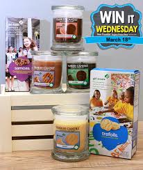 the winner gets 2 yankee candles in girl scout cookie fragrances
