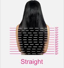 Straight Hair Length Chart Brazilian Silky Straight Full Lace Wig