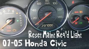 2005 Honda Civic Maintenance Required Light How To Reset Maint Reqd Light 2001 2005 Honda Civic Fastest Video