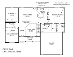 One Story House Plans With Garage U0026 One Level Homes With Garage Open Floor Plans For One Story Homes