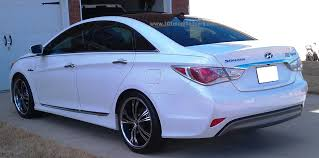 hyundai sonata 2013 white. modified hyundai sonata i45 gls hybrid 6th generation yf porcelain pearl white rear 2013
