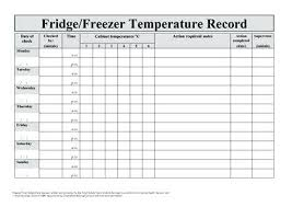 Refrigerator Temperature Chart Sample Refrigerator Temperature Log Crohndiseasetest Info