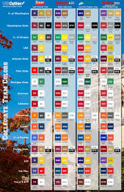 Downloadable Pdfs Of College Team Vinyl Color Chart Nfl
